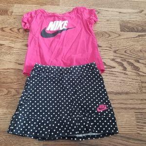Nike Shirt and Skort 12 M